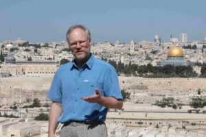 "Telling ""Abraham Tested"" on The Mount of Olives, Israel"
