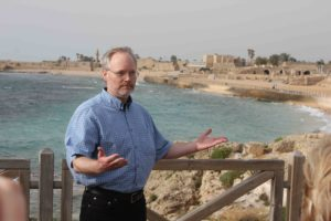 "Telling ""Storm at Sea"" at Caesarea on the Sea, Israel"